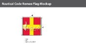Romeo Deluxe Flags 4x4 foot