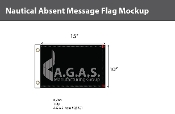 Absent Deluxe Flags 10x15 inch