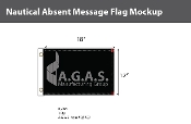 Absent Deluxe Flags 12x18 inch