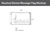 Dinner Deluxe Flags 10x15 inch