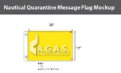 Quarantine Deluxe Flags 12x18 inch