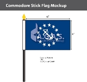 Commodore Stick Flags 4x6 inch