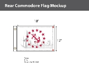 Rear Commodore Flags 12x18 inch