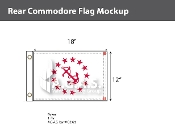 Rear Commodore Deluxe Flags 12x18 inch