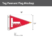 Tag Pennant Flags 12x18 inch