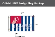 USPS Yacht Ensign Deluxe Flags 16x24 inch