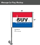 SUV Car Flags 12x16 inch (Red, White & Blue)