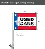 Patroitic Used Cars Car Flags 12x16 inch