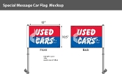 Used Cars Premium Car Flags 10.5x15 inch