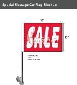 Sale Car Flags 12x16 inch (Red)