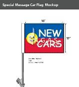 New Cars Smiley Car Flags 12x16 inch