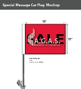 Sale Car Flags 12x16 inch (Red & Black)