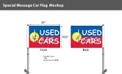Used Cars Smiley Premium Car Flags 10.5x15 inch