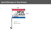 New Cars with Bug Premium Car Flags 10.5x15 inch
