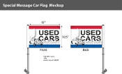 Used Cars with Bug Premium Car Flags 10.5x15 inch