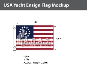 USA Yacht Ensign Flags 12x18 inch