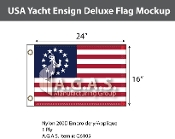 USA Yacht Ensign Deluxe Flags 16x24 inch
