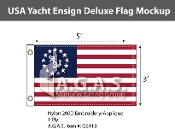 USA Yacht Ensign Deluxe Flags 3x5 foot