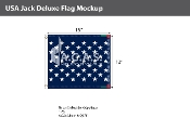 USA Jack Deluxe Flags 13x15 inch