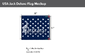 USA Jack Deluxe Flags 17x20 inch