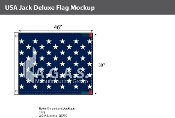 USA Jack Deluxe Flags 38x46 inch