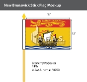 New Brunswick Stick Flags 12x18 inch