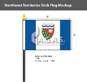 Northwest Territories Stick Flags 4x6 inch