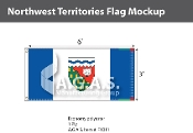 Northwest Territories Flags 3x6 foot (Official ratio 1:2)
