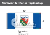 Northwest Territories Flags 6x12 foot (Official ratio 1:2)