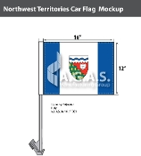Northwest Territories Car Flags 12x16 inch Economy
