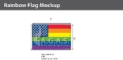 New Old Glory Pride  Deluxe Flag 2'X3'