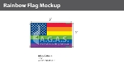 New Old Glory Pride  Deluxe Flag 3'X5'