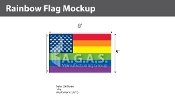New Old Glory Pride  Deluxe Flag 5'X8'