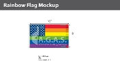 New Old Glory Pride  Deluxe Flag 6'X10'