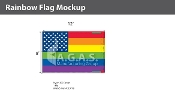 New Old Glory Pride  Deluxe Flag 8'X12'