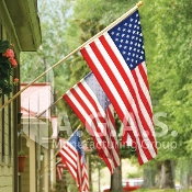 USA 400D Nylon Embroidered Flags