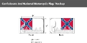 Confederate 2nd National Motorcycle Flags 6x9 inch