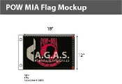 POW MIA Flags 12x18 inch (black & red)