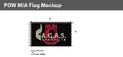 POW MIA Flags 3x5 foot (black & red)