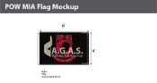 POW MIA Flags 4x6 foot (black & red)