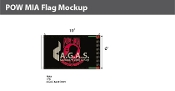 POW MIA Flags 6x10 foot (black & red)