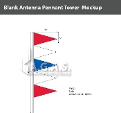 Red, White & Blue Antenna Pennant Towers 32 inch