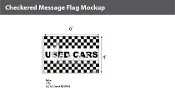 Used Cars Checkered Flags 4x6 foot