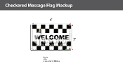 Welcome Checkered Flags 2x3 foot