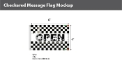 Open Checkered Flags 4x6 foot