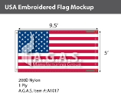 USA Embroidered Flags 5x9.5 foot (Made in the USA)
