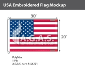 USA Embroidered Flags 20x30 foot (Made in the USA)
