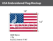 USA Embroidered Flags 12x18 inch