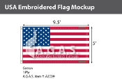 USA Embroidered Flags 5x9.5 foot