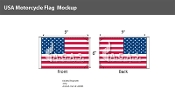 USA Motorcycle Flags 6x9 inch - Flag only